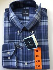 Mens Blue TAILORBYRD Long Sleeved Shirt XXL New Rrp £75
