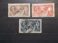 GB~1934 Set of 3 Seahorses~SG450/2~ Fine Used~G~cat £190 uk seller