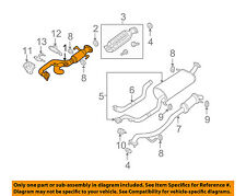 MAZDA OEM 00-01 MPV 2.5L-V6 Exhaust System-Front Pipe GY0140500H