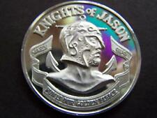 XXRare 1974 Jason Fine Silver Engraved High Relief Mardi Gras Doubloon-Straight