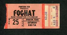 1978 Foghat Judas Priest Bto Concert Ticket Stub Houston Bachman Turner