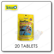 Tetra Fun Tips Stick to Glass Fish Food Tropical Aquarium Treat 20 Tablets X 12