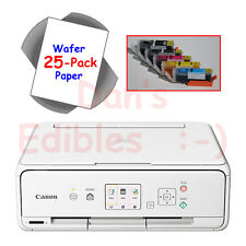 New Edible Printer Bundle with Ink, 25 Wafer Sheets, White Canon Wireless TS5020