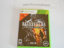 Video Game - MICROSOFT XBOX 360 - BATTLEFIELD 3 LIMITED EDITION - Game w/ Case
