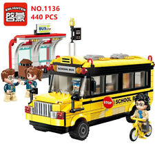 ENLIGHTEN 440 pcs Kids Building Toys Blocks DIY Puzzle School Bus 1136