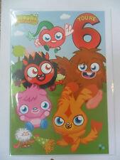 Moshi Monsters Age 6 Birthday Card