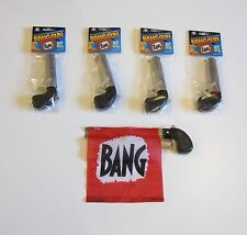 4 NEW BANG GUN PISTOLS WITH FLAG COMEDY PROP GUNS GAG GIFT MAGIC TRICK