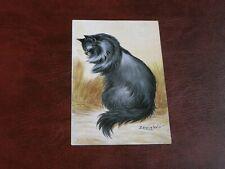 ORIGINAL LOUIS WAIN SIGNED CAT POSTCARD - BLUE PERSIAN - EMPIRE SERIES.