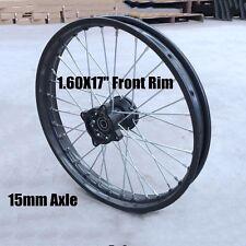 """Front Rim 15 mm Axle 1.6 17"""" For 125cc 140cc 150cc 160cc Dirt Bike Pit Bike DHZ"""