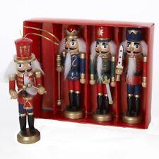 "Boxed Set of 4 Wooden Nutcracker Ornaments Each 5 "" Tall Kurt Adler Item C1648"