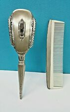 ANTIQUE ART DECO S & B STERLING SILVER CHILD'S COMB & BRUSH SET