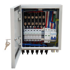 6-String Solar PV Combiner Box W/ Circuit Breakers for 100W Solar Panel System