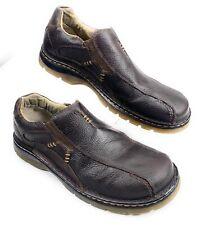 Dr. Martens Doc AirWair Slip On Loafer Shoes Pebbled Leather Brown Men's 12 M US