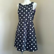 WHBM black white polka dot princess dress medium