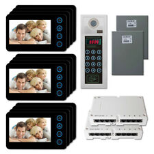 """Home Apartment Security Video Intercom System with (12) 5"""" Door Camera Monitors"""