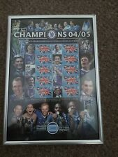 Chelsea Champions & Carling Cup Winners Smilers Stamp Sheet, limited edition