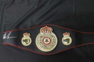 MIKE TYSON SIGNED WBA CHAMPIONSHIP BELT REPLICA BOXING PSA/DNA COA JB1410