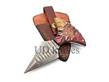 UD CUSTOM HANDMADE 1095 DAMASCUS STEEL  FULL TANG HUNTING KNIFE 473