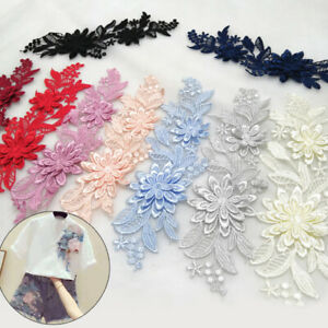 Ribbon Lace Fabric Wedding Craft Applique Embroidery Sewing Trim Garment C2UK