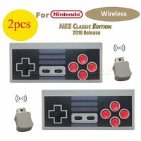 2X Wireless NES Gamepad Game Joypad Controller For Nintendo Mini Classic Console