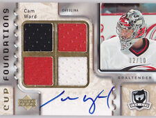 06-07 The Cup Cam Ward /10 Auto Jersey Foundations Hurricanes 2006