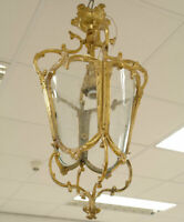 LATERNEN LAMPE WIENER PENDELLEUCHTE ALT MESSING KRONLEUCHTER LATERNE HÃNGELAMPE