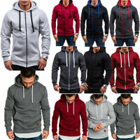 Men's Hooded Hoodie Winter Sweater Zip Jacket Sweatshirt Outwear Jumper Coat
