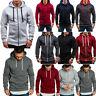 Men's Hooded Hoodie Winter Sweater Zip Jacket Sweatshirt Outwear Jumper Coat