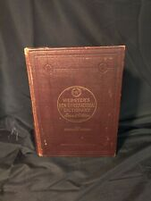 Webster's New International Dictionary 2nd Edition Unabridged Copyright 1934