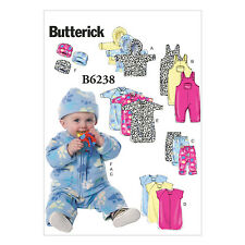Butterick 6238 Sewing Pattern to MAKE a Collection of Infant Clothing - Layette