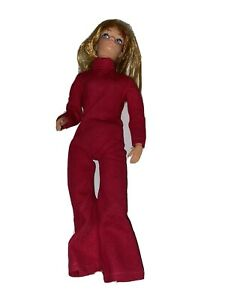 Vintage Action Girl Doll - Dollikin  Retro Pink Jumpsuit 1970s