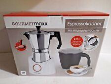 """Gourmetmaxx Espressokocher mit Milchaufschäumer 550Watt 2in1 """"B-Ware"""""""