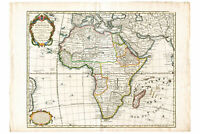 Map of Africa by Delisle 1745 Antique Map Custom Printed to Order