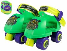 First Roller Skates For Toddler Kids Boys Green Skating Wheels With Knee Pads US