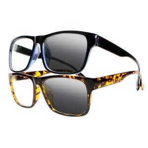 Bifocal Transition Photochromic TR90 Geek Nerd Sun Reading Glasses Sunglasses