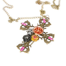 Necklace & Pendant Gift Jewelry Chain Nice Fashion Gothic Punk Skull Rose Cross