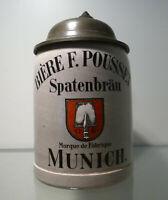 Bierkrug 0,2 Liter, Spaten-Bräu Munich, Merkelbach & Wick  für F. Pousset, Paris