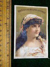 1870s-80s Kabo Corset, Lovely Lady Colorful Victorian Trade Card F11