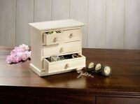 Dekoratives Schmuckschränkchen mit 4 Schubladen | Schmuckkasten | Aufbewahrung