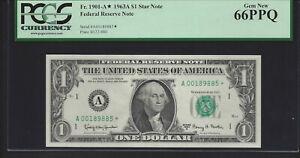 1963A $1 A-Star  PCGS 66PPQ