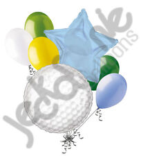 7 pc Golf Ball Balloon Bouquet Party Decoration Happy Birthday Father Baby Green