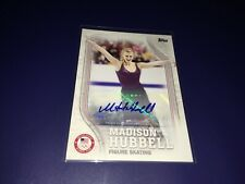 Madison Hubbell Figure Skating 2018 Topps Olympics Autographed Card 07/60