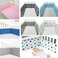 """78"""" Breathable Baby Crib Bumper Mesh Liner for Cradle Newborn Pad Bed Protector"""