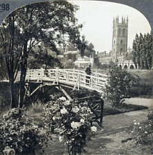 Keystone Stereoview of Magdalen / OXFORD College, ENGLAND Type B 1930's T600 Set