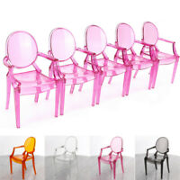 5PCS 1:6 Plastic Arm Chair  Random Color Transparent Dollhouse Miniature