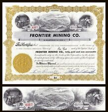 Frontier Mining Co. Co 1955 Stock Certificate