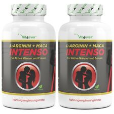 2x ARGININ + MACA INTENSO - 480 Kapseln 120 Tage - Potenz Libido Sex Erektion