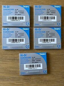 Dental Instruments Dentsply Ash Instruments 541M Fissure Diamond Burs x 25no New