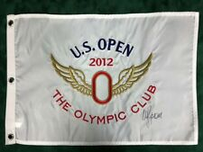 Webb SIMPSON Signed 2012 US Open Olympic Club Golf Flag Autograph AFTAL COA