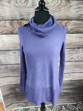 Adrienne Vittadini Womens Long Sweater! Frosted Plum Heather NWT XS Cowl Neck A4